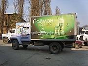 брендирование автомобиля компании Дискон